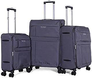 جيوردانو طقم حقائب سفر بعجلات, 3 قطع مع 4 عجلات, رمادي - 18004