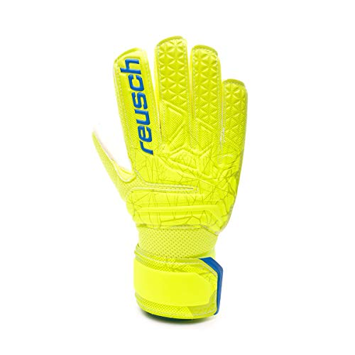 Reusch Kinder Fit Control RG Open Cuff Junior Torwarthandschuh, Lime/Safety Yellow, 5