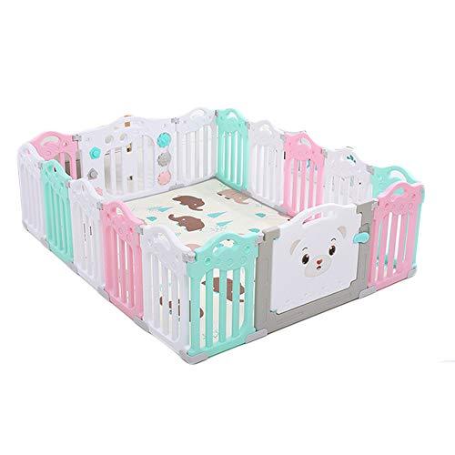 Opvouwbare baby Box, met kruipen mat, Portable Children's Vangrail Amusement Park, with1 + 1 + 14, geschikt voor kinderen in Home Garden,A