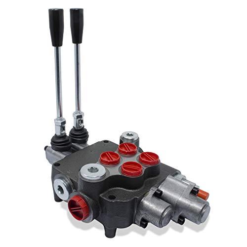 Monoblock Hydraulic Directional Control Valve, 2 Spool w/Single Float Detent, 21 GPM