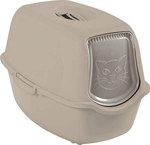 Rotho Bac à litière pour chat, en plastique (PP) sans BPA, Capuccino, (56,0 x 40,0 x 39,0 cm)