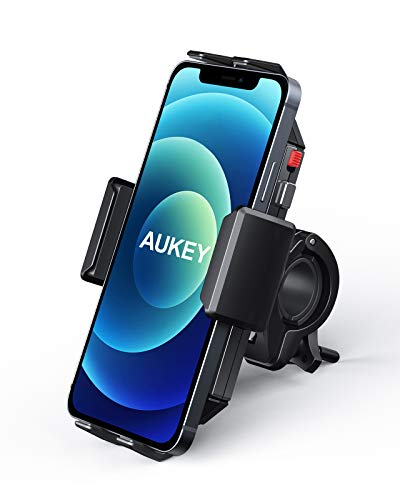AUKEY Bike Phone Mount Anti Shake 360° Rotation Bicycle...