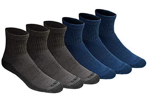 Dickies Dri-tech - Calcetines de control de humedad para hombre, Mezclilla mezclada (6 pares), Shoe Size: 5-9