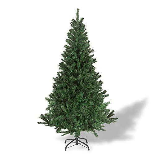 Julido Weihnachtsbaum Kunstbaum künstlicher Baum Tannenbaum Dekobaum Christbaum Grün mit Ständer 150cm 500 Spitzen