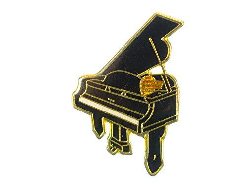Miniblings Klavier Brosche Pin Anstecker Konzertflügel Klassik Piano Flügel Gold