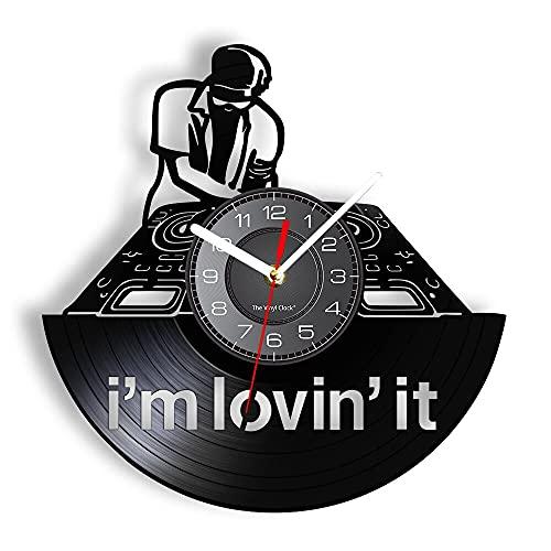 LED 7 Colores Relojes de Pared Conjunto de Equipos de DJ Disco de Vinilo Night Club Relojes silenciosos Decoración de Arte para Hombres Favores de Fiesta DJ Música Mezcla de Regalos con luz