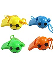 Nawani Football Shape Whistle (Pack of 6) for Kids
