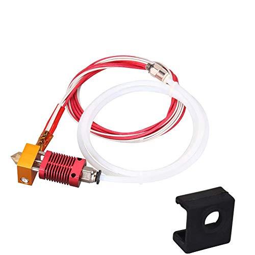 Lesai Kit de extrusora MK8 Hot End para impresora 3D Creality CR-10/Creality Ender 3/Ender 3 Pro con boquilla de 0,4 mm, tubo de teflón, 24 V, 40 W