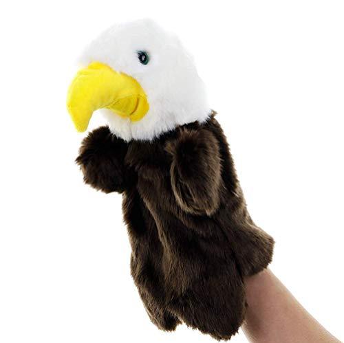 Zerxi Weiche Plüsch Tier Muppet Handpuppen (Adler)