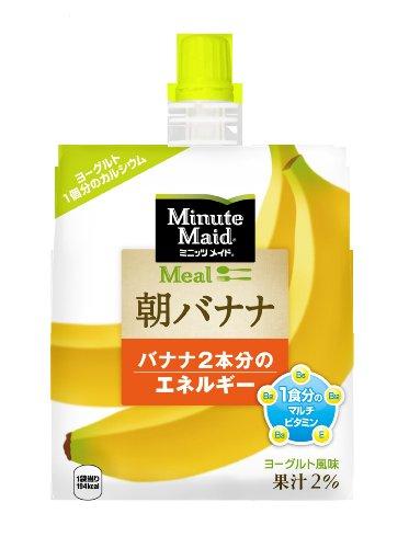 コカ・コーラ ミニッツメイド 朝バナナ ゼリー 180mlパウチ×6個