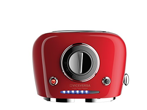 Viceversa 2135035 Tix Pop-up-Toaster, Rot
