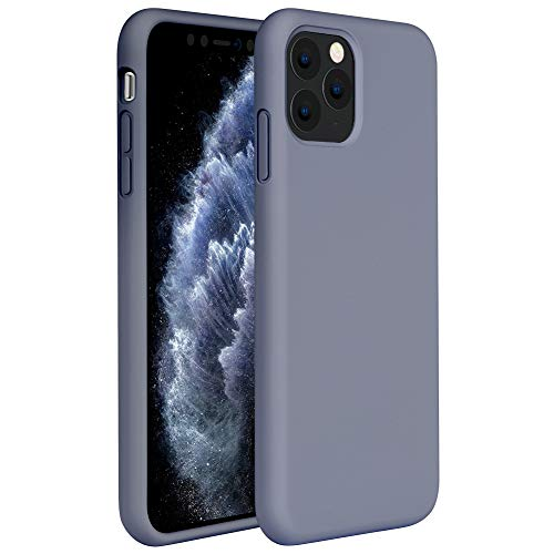 Miracase Liquid Silicone Case Compatible with iPhone 11 Pro Max 6.5 inch(2019), Gel Rubber Full Body Protection Shockproof Cover Case Drop Protection Case (Lavender Gray)