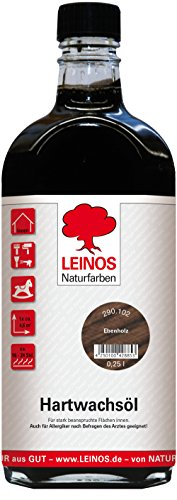 Leinos 290 Hartwachsöl 102 Ebenholz 0,25 l
