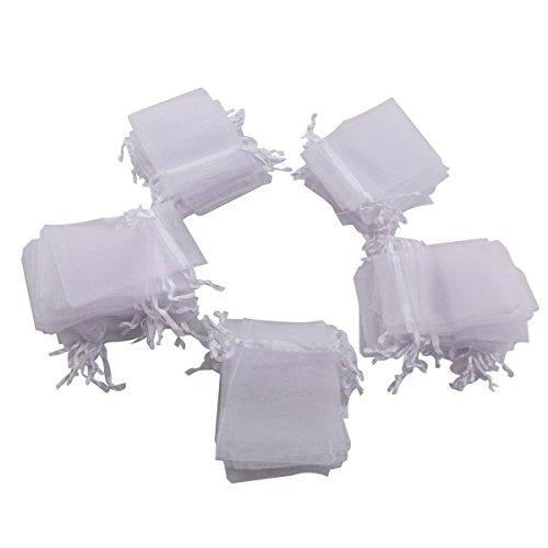 Negro 100pcs 7x9cm Organza Bolsa de regalo de boda Organza Favor Bolsas para la joyer/ía Baby Shower Party Favors Bolsa de regalo para Chocolates Dulces por TheBigThumb