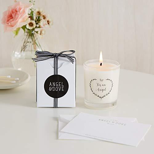 Angel & Dove For an Angel Vela votiva en caja de regalo con bolsa y tarjeta: para la pérdida de bebé, aborto espontáneo, regalo de simpatía