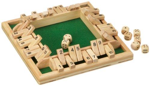 Philos 3280 - Shut The Box 10er, für 1-4 Personen, Würfelspiel, Klappenspiel