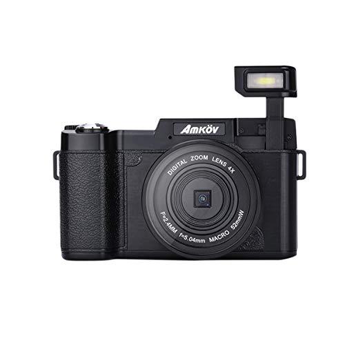 LEDMOMO Amkov R2 Minikamera 24MP 1080P HD Video 180 Grad drehbarer 3-Zoll-TFT-Bildschirm 4-Fach Digitalzoom Portable Cam Camcorder