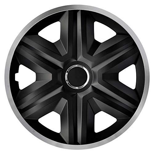 Radkappen schwarz silber 16 Zoll Fast Lux NRM, Radblenden 4er Set Radzierblenden