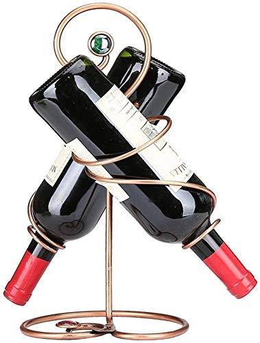 Zyyqt Botellero, Simple y Creativo de Metal de Hierro Forjado Estante de exhibición de la Botella de Vino/Rack encimera Crafts/Estante del Vino Soporte/Soporte de exhibición del Vino