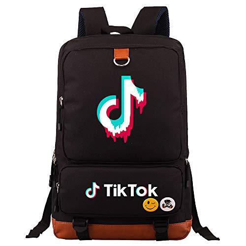 Creative Leisure Backpack Large Capacity Backpack for Teenagers Laptop Backpack 45cm*30cm*15cm Black