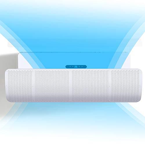 Deflector para aire acondicionado con rejilla de aire acondicionado, cortavientos, ajustable, color blanco