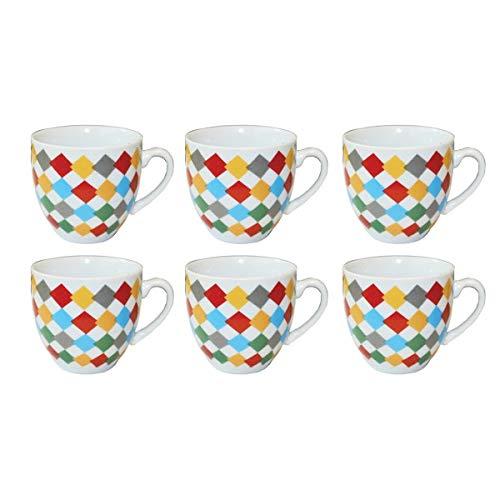 BORELLA CASALINGHI SRL Schöne Tasche für Kaffee, 6 Stück, ohne Teller, Dekoration