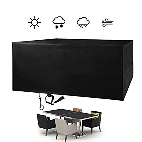 FlyLemon Fundas para muebles de patio al aire libre, tela Oxford 420D impermeable y anti UV protectores de jardín 70 x 47 x 30 pulgadas (180 x 120 x 74 cm)