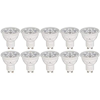 [10 Pack] Simba Lighting LED GU10 Dimmable Spotlight 30° Beam Angle 120V for Accent, Recessed, Track Lighting, Twist-N-Turn Base, PC Cover, Daylight 5000K