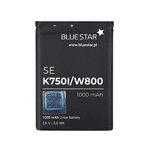 Bluestar Akku Ersatz kompatibel mit Sony Ericsson K750i 1000mAh 3,6V Li-lon Austausch Batterie Accu BST-36 W800, W550i, Z300