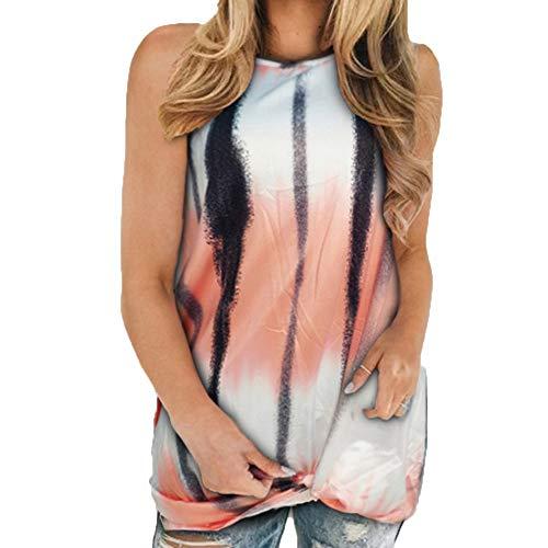 Weste T-Shirt Sommer Frauen ÄRmelloser Druck Loose Casual Kink