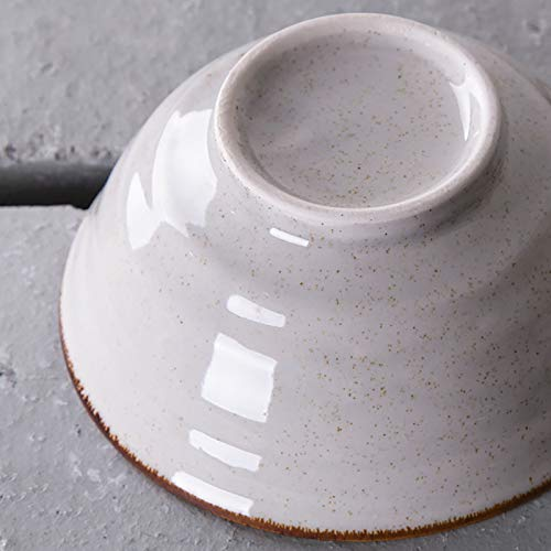 Cuenco de cerámica para ramen, regalo creativo, cuencos de ramen retro con palillos y cucharas, apto para microondas, para ensalada de frutas, verduras, fideos, 1100 ml