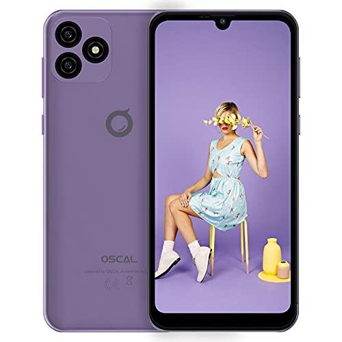 Teléfono Móvil Baratos OSCAL C20, Android 11 Batería 3380 mAh 6.1' HD+ Pantalla 19.5:9 Smartphone 32GB ROM (Ampliable 128GB) Quad-Core 3G Dual SIM Moviles Libres Face ID/GPS/FM