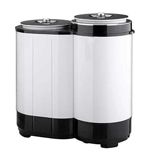 CJF Multifonction Mini Lave-Linge Compact Double Barrel Cylindre Washer avec Générateur D'ozone pour L'extérieur Caravanes Petits Appartements Et Voyage
