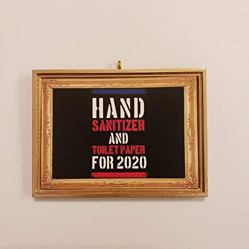 Hand Sanitizer And Toilet Paper For 2020 Presidential Candidate Joke Decorative Magnet Without a Bail Covid-19 Coronavirus Corona Virus