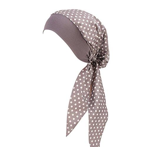 ishine ishine Damen Kopftuch Printed Turban mit Elastische Stirnband Hut Elegante Hijab Chemo Atmungsaktiv Islamischen Kopfbedeckung Muslimischen Kopfschmuck Turban-Kappe für Haarausfall