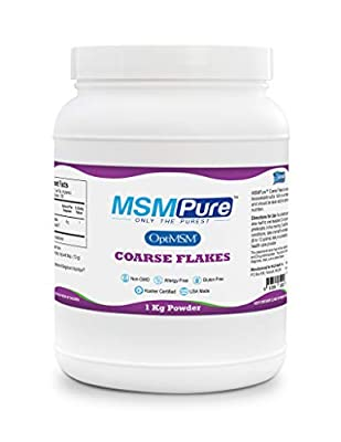 MSMPure Coarse Powder Flakes, Organic Sulfur Crystals, 99.9% Pure Distilled MSM, 1 kg