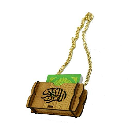 Ramadan24 Islamische Auto Rückspiegel Anhänger Kleiner Koran Schutz Glücksbrin Autospiegel