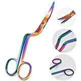 AAProTools Double-Curved Applique scissors, Multi Rainbow Color