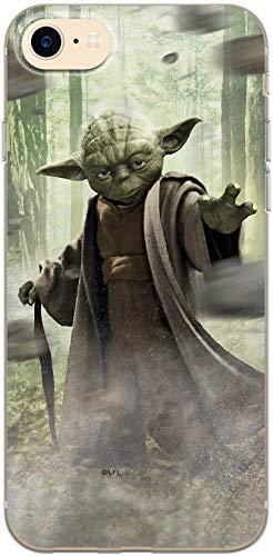 Carcasa Original de Star Wars Yoda TPU para iPhone 7, iPhone 8, iPhone SE2, Funda de Silicona líquida, Flexible y Delgada, Protectora para Pantalla, a Prueba de Golpes y antiarañazos