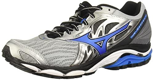 Mizuno Men's Wave Inspire 14 Running Shoe, Silver/Directoire Blue, 7 2E