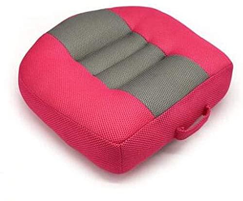 HKAFD Auto Seat Pad Elesatura Altezza Boost Mattina Portatile Mesh Traspirante, Ideale per Ufficio Auto, casa, Usato Tutto L'Anno 40 * 40 * 12 cm (Color : Red)