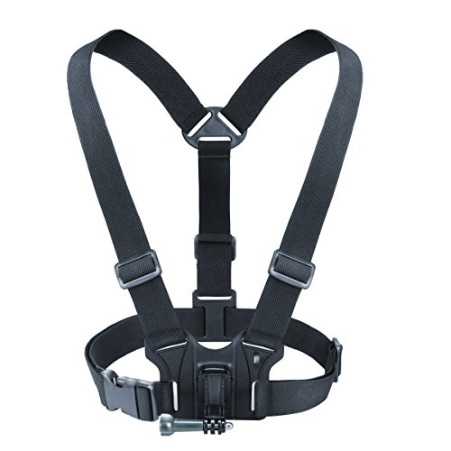USA GEAR Camera Chest Strap Harness Mount with Tripod Adapter - Provides Custom Shooting Angles - Compatible with Canon PowerShot, Nikon Coolpix and More Point-and-Shoot Cameras or Action Cameras