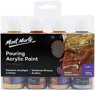 Mont Marte Acrylic Pouring/Fluid Paint Set 120ml 4pc - Metallic