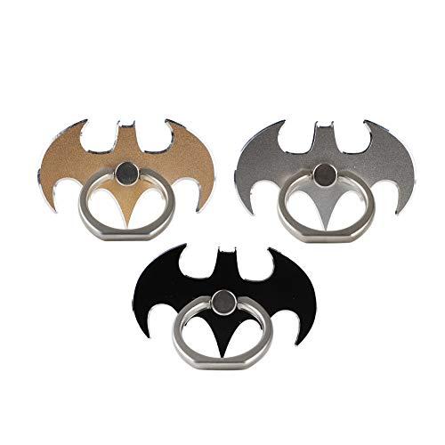 mciskin murciélago Anillo Soporte móvil para el Dedo - Soporte de Coche con rotación 360º Anilla metálica de Ajuste para móviles,Soporte para Anillo de teléfono móvil(Juego de 3)