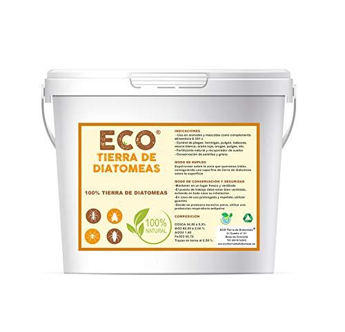 ECO Tierra de Diatomeas® Micronizada 5kg - 100% Natural y Ecológico - Grado alimenticio E551c. No calcinada, sin aditivos.