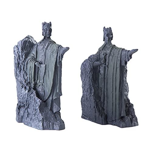 Art Sculptures - Juego de 1 par de extremos de libro de resina para estanterías de libros, sujetalibros, tapón, libro decorativo para el hogar, soporte para exhibición