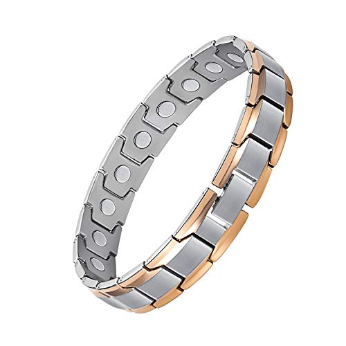 Jeracol Magnetic Bracelet Magnetic Therapy Bracelet for Arthritis Pain Relief Elegant Titanium Magnetic Bracelets Health Care Gift for Men and Women Wristband Adjustable with Remove Tool Gift Box.
