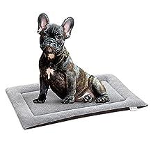 Navaris Cama de Viaje para Mascotas - Colchoneta Lavable de 47 x 30 CM para Perro y Gato - Cojín pequeño para casa Coche Camping transportín Jaula