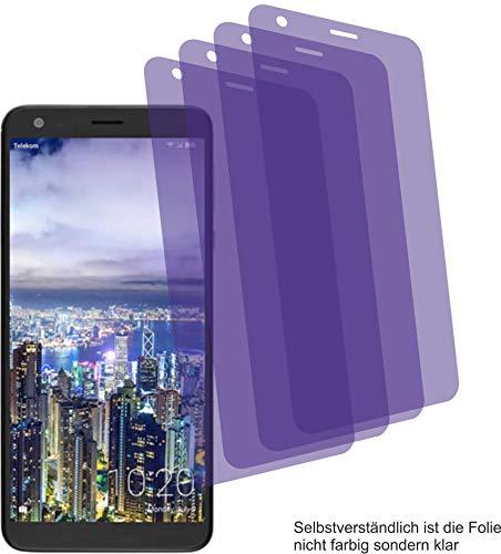 4ProTec I 4X Crystal Clear klar Schutzfolie für Sharp Aquos B10 Bildschirmschutzfolie Displayschutzfolie Schutzhülle Bildschirmschutz Bildschirmfolie Folie
