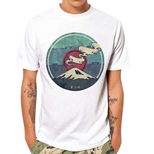 Sylar Hombre Camiseta De Manga Corta con Cuello Redondo Estampado Montañas Camisetas Hombre Originales Tops De Verano Casual Básica Camiseta para Hombres Diario